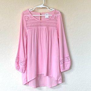 Arizona Jeans Co. Pink Boho Girls Top (7/8) NWT
